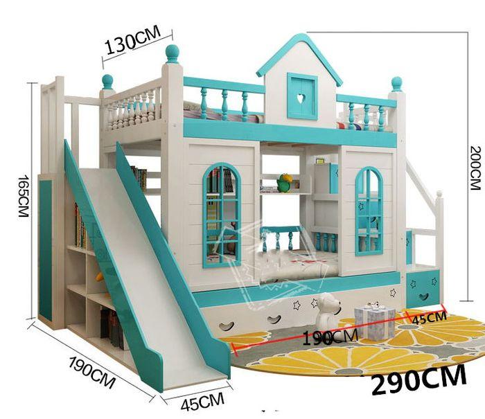 Kích cỡ chiều cao, chiều dài giường tầng ngôi nhà GTE033