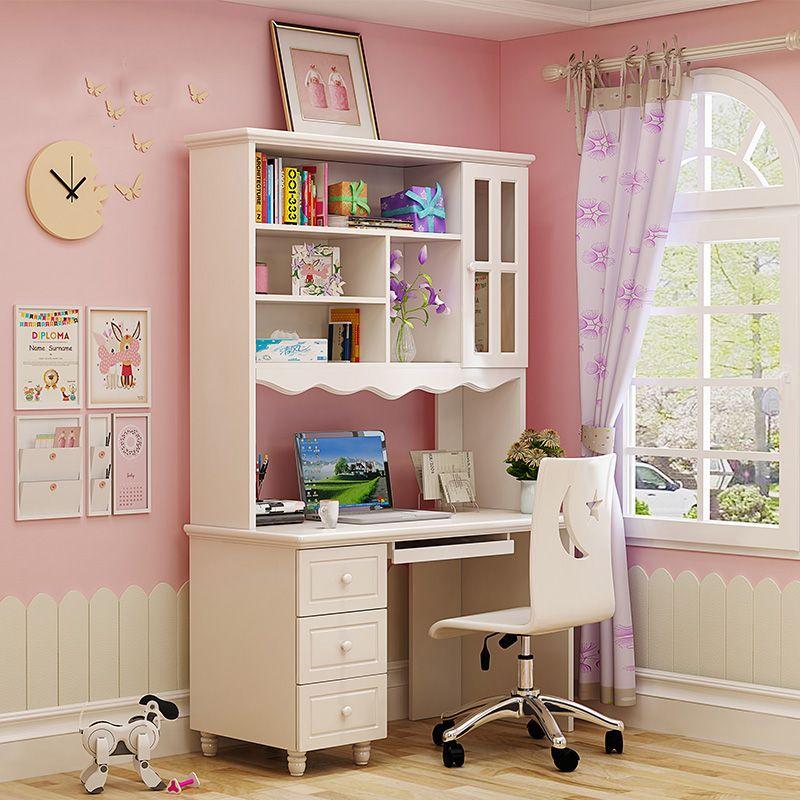 Bàn ghế học dành cho trẻ em đẹp màu trắng BH006 - 1