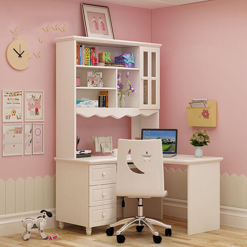 Bàn ghế học dành cho trẻ em đẹp màu trắng BH006 - 2