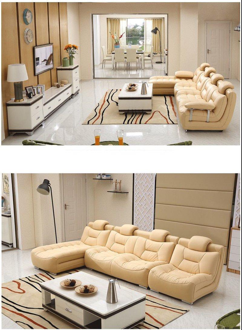 Bộ ghế sofa bọc da hiện đại cao cấp sang trọng SF001 7