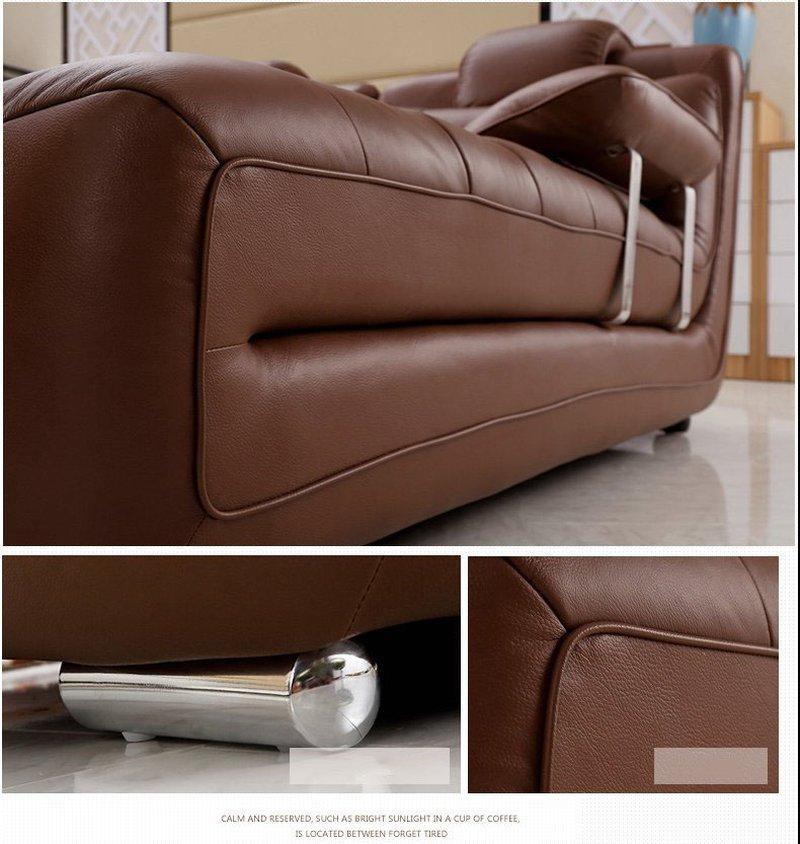 Bộ ghế sofa bọc da hiện đại cao cấp sang trọng SF001 5