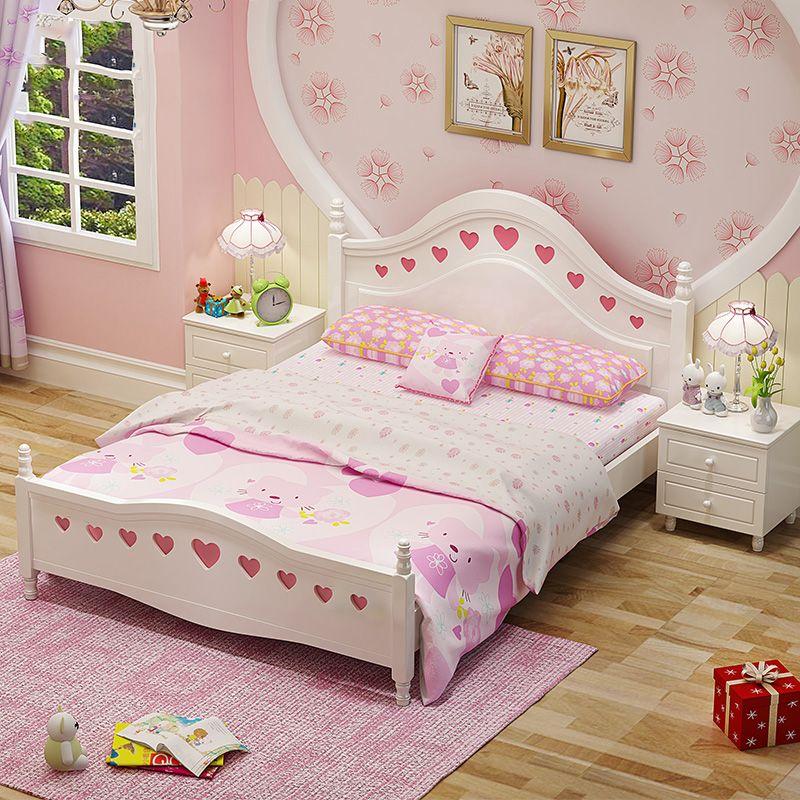 Giường ngủ cho bé đính trái tim họa tiết GTE006