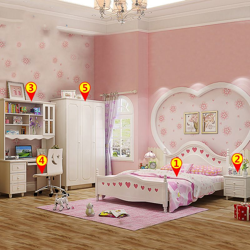 Bộ nội thất giường cho bé đẹp GTE006