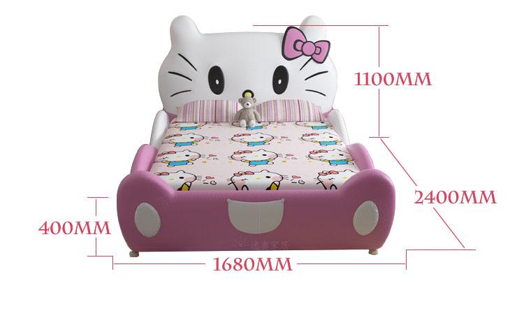 Kích cỡ Giường cho bé gái hình chú mèo Hello Kitty GTE011