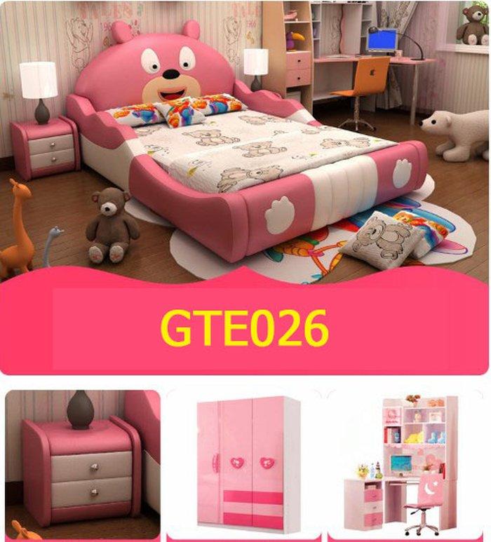 Các sản phẩm trong bộ Giường trẻ em hình con gấu dễ thương GTE026