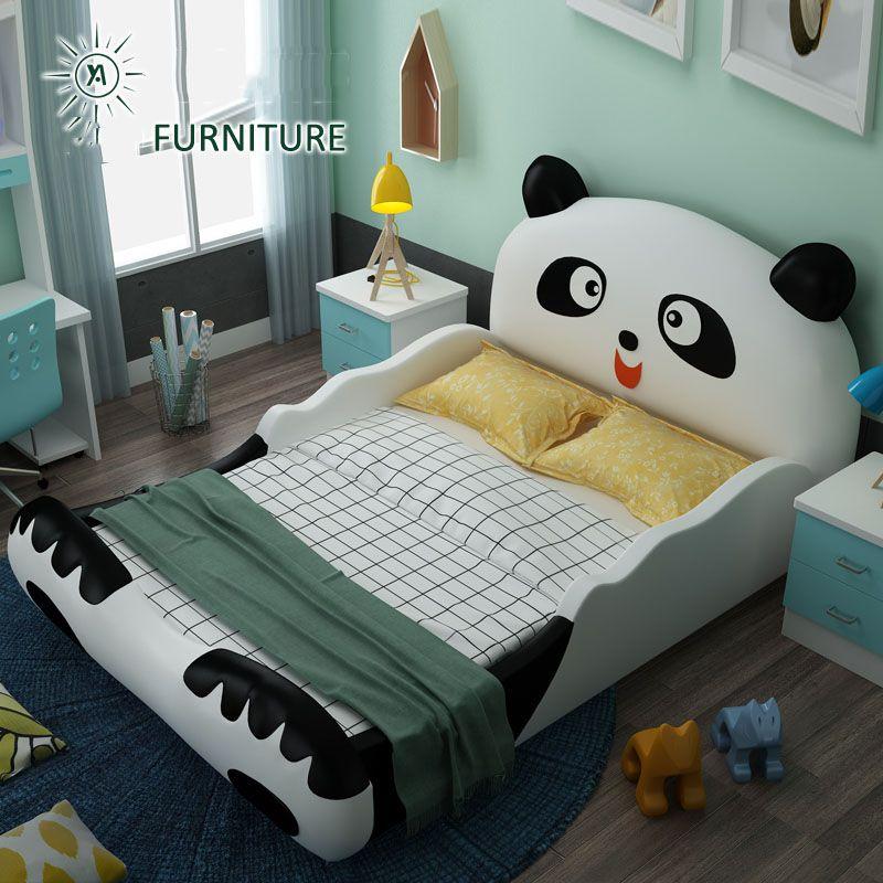 Mẫu giường ngủ cho bé hình chú gấu Panda dễ thương GTE013