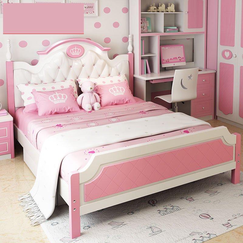 Mẫu giường công chúa đầu giường bọc da GTE023