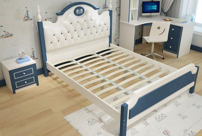 Mẫu giường công chúa đầu giường bọc da GTE023 2