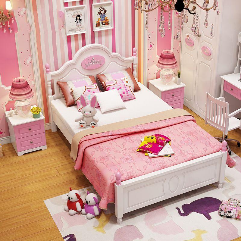 Mẫu giường ngủ công chúa bằng gỗ đẹp GTE008