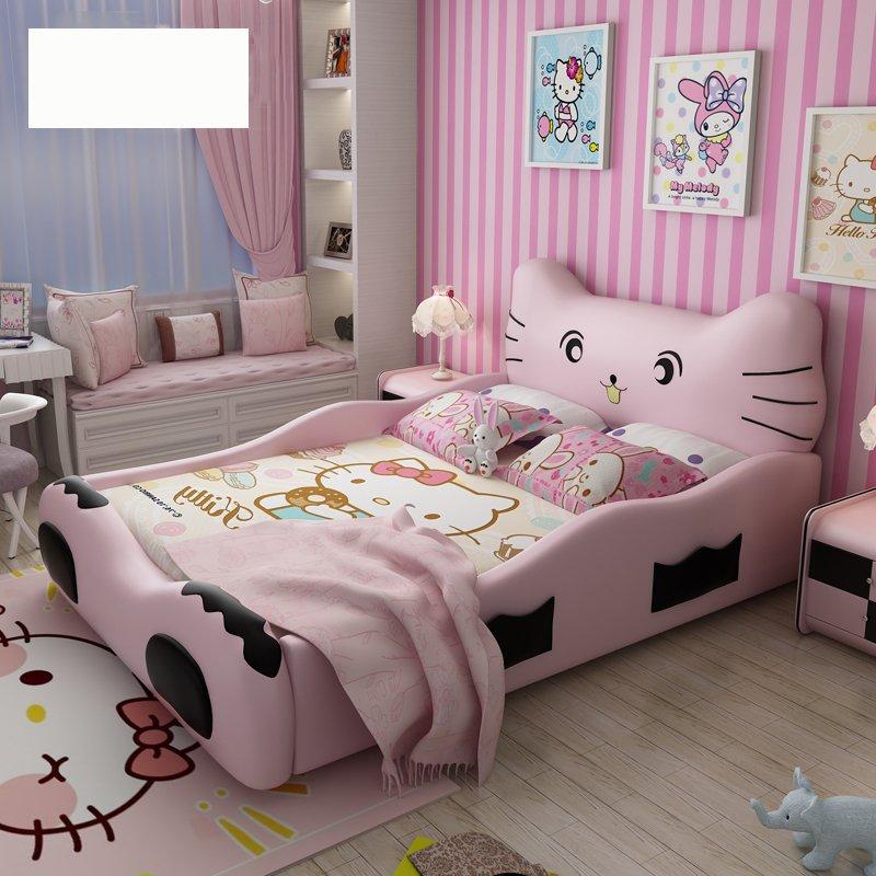 Giường công chúa kiểu con mèo Hello Kitty GTE018 màu hồng