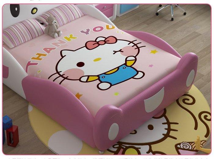 Thân và thành giường hello kittty GTE011 bọc da sang trọng