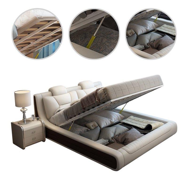 Giường hiện đại bọc da cao cấp sang trọng GN006 3