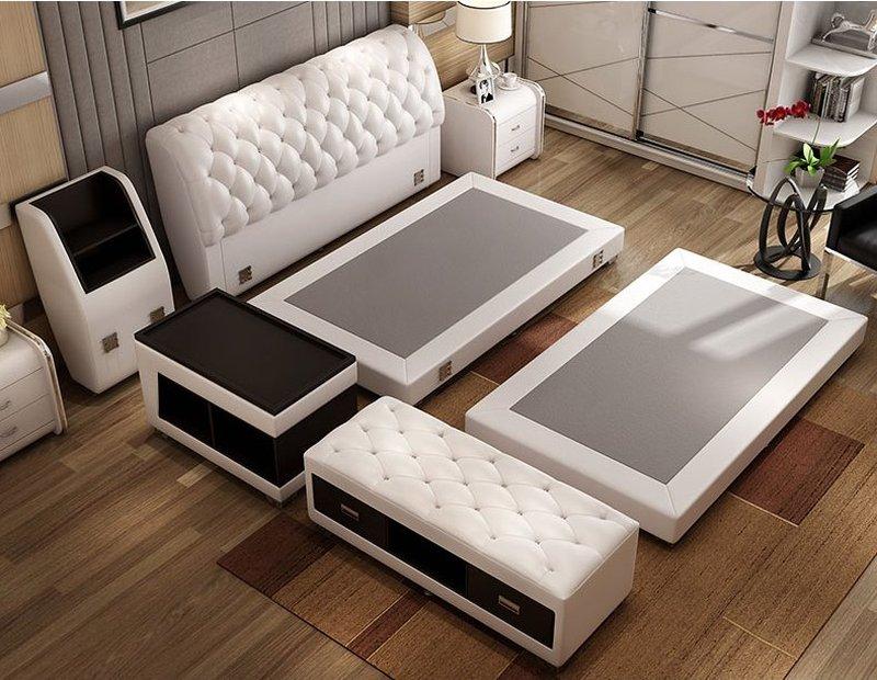 Giường tatami kiểu nhật bọc da có ngăn kéo GN008 2