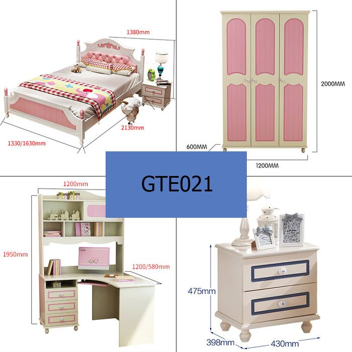 Kích thước giường ngủ trẻ em GTE021