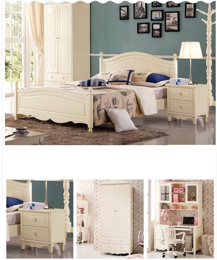 Các sản phẩm trong bộ Giường ngủ trẻ em làm bằng gỗ công nghiệp cao cấp GTE043