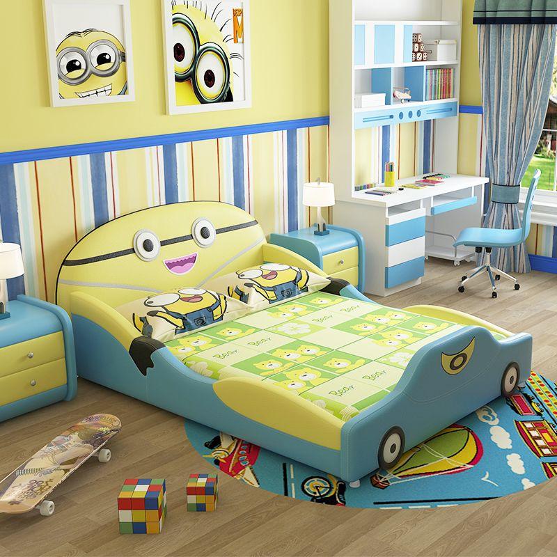 Mẫu giường ngủ trẻ em đẹp kiểu hoạt hình GTE015 màu xanh dương