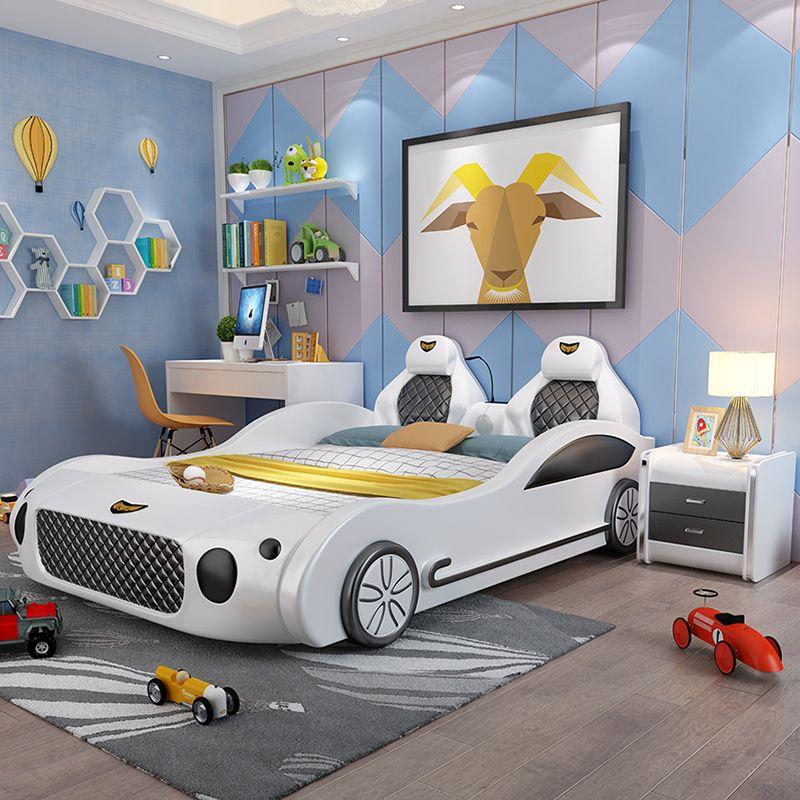 Mẫu giường ngủ ô tô thể thao đa tính năng cho bé GTE041 màu trắng