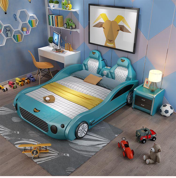 Mẫu giường ngủ ô tô thể thao đa tính năng cho bé GTE041 màu xanh dương
