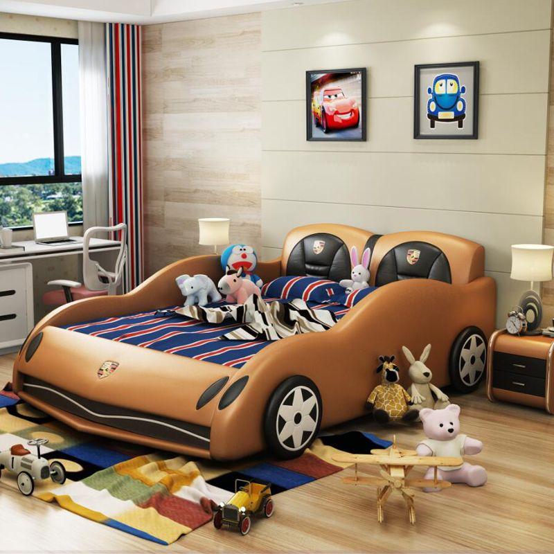 Giường ô tô thể thao đẹp cho bé trai GTE042 màu cam