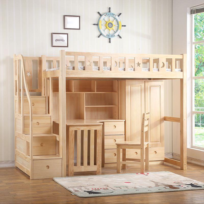 Giường tầng trẻ em đa năng kết hợp bàn học + tủ quần áo GTE060