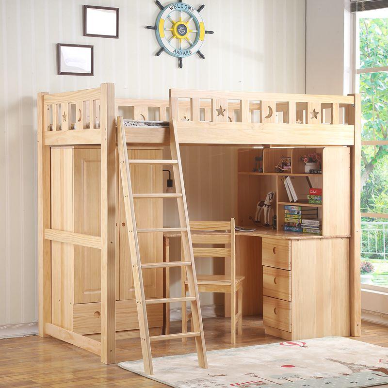 Giường tầng trẻ em đa năng kết hợp bàn học + tủ quần áo GTE060 3