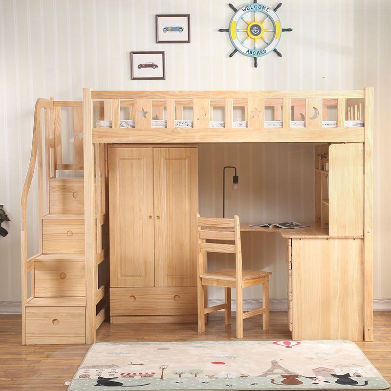 Giường tầng trẻ em đa năng kết hợp bàn học + tủ quần áo GTE060 4