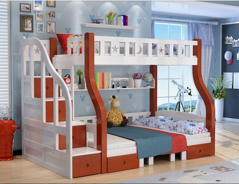 Mẫu giường tầng cho bé thông minh đa năng GTE048 4