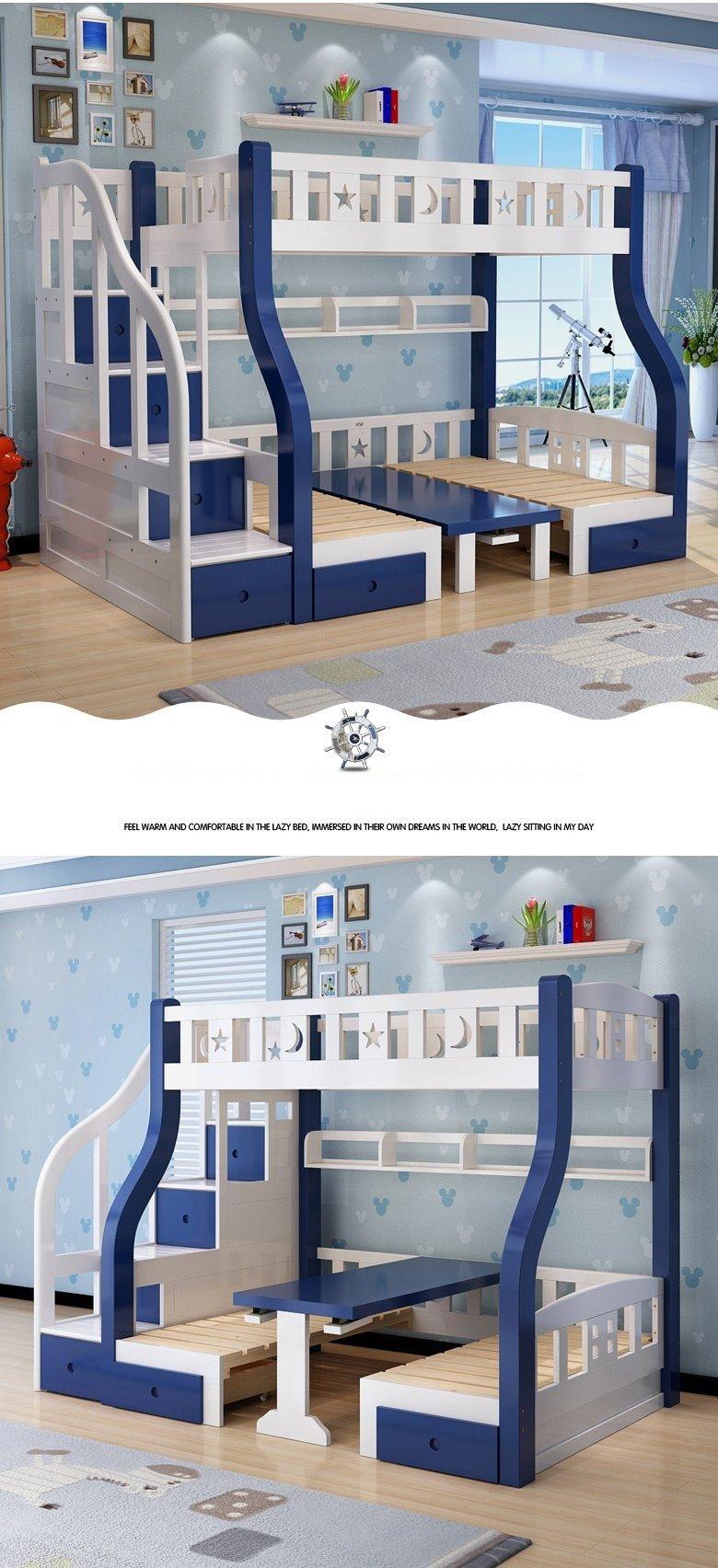 Mẫu giường tầng cho bé thông minh đa năng GTE048 7