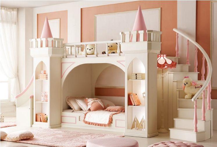 Giường tầng lâu đài cho bé đẹp GTE037