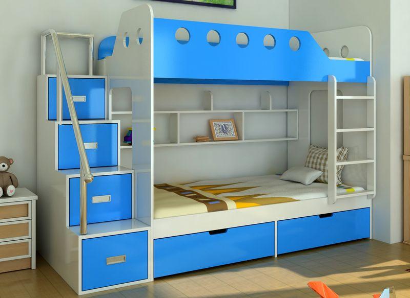Giường tầng đẹp cho bé làm từ gỗ công nghiệp