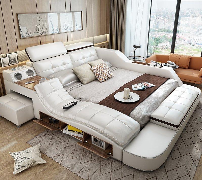 Giường ngủ tatami kiểu Nhật GN004-1 màu xám