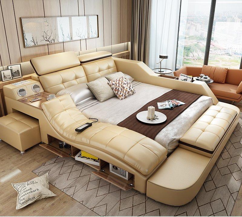 Giường ngủ tatami kiểu Nhật GN004-3 màu kem