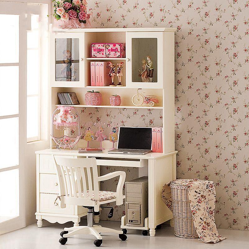 Bộ bàn ghế học cho bé màu trắng đẹp BH009