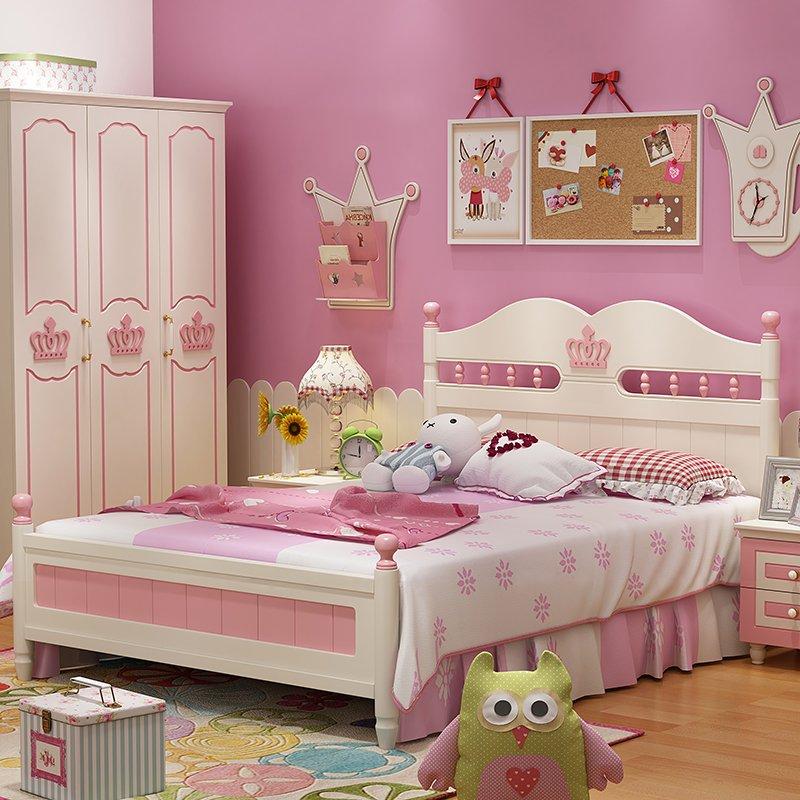 Mẫu giường ngủ kiểu công chúa đẹp GTE020