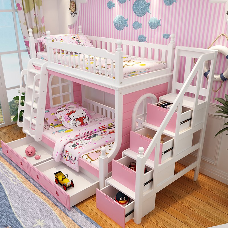 Mẫu giường tầng trẻ em đẹp GTE046