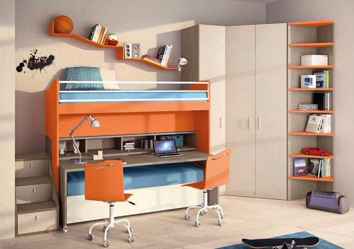 Giường tầng ngủ màu cam dành cho những người năng động