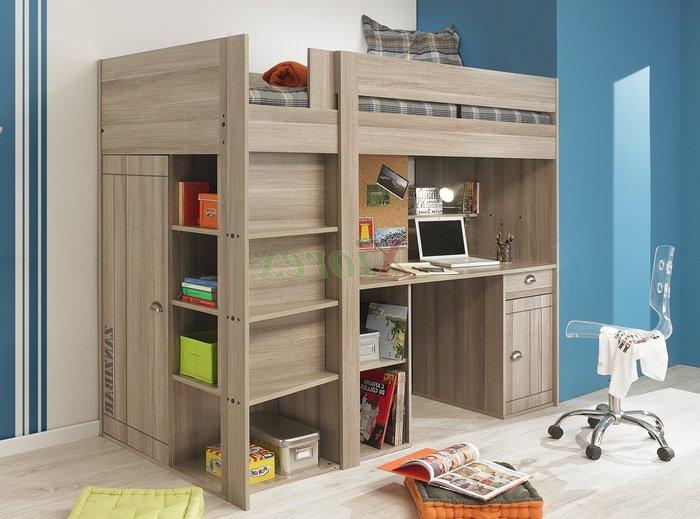 Giường ngủ tầng làm bằng chất liệu gỗ tự nhiên màu sắc nhã nhặn