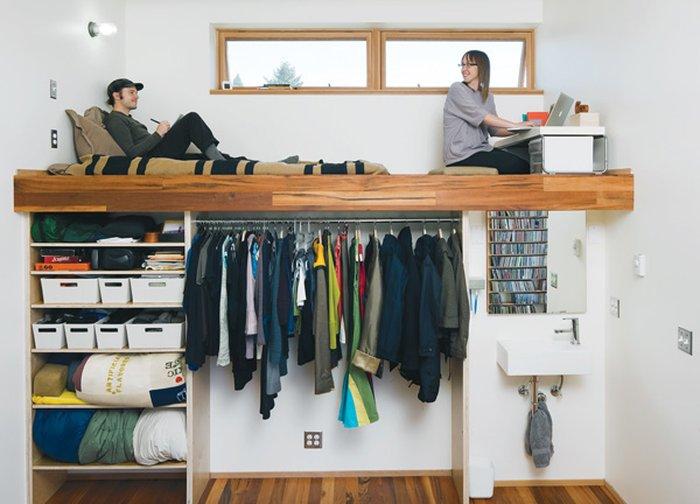 Mẫu giường tầng kết hợp tủ quần áo tiện ích