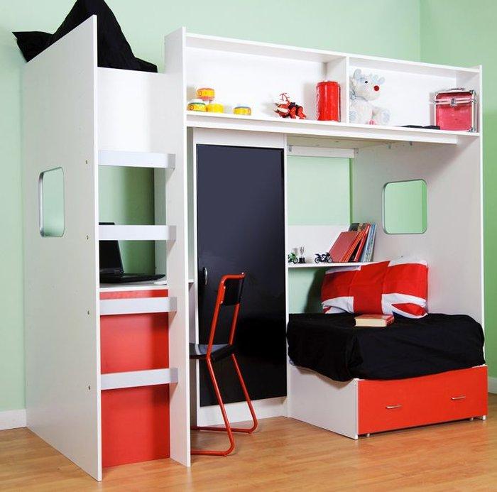 Giường tầng kết hợp nhiều tiện ích vô cùng hấp dẫn