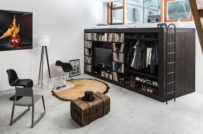 Giường tầng kết hợp tủ quần áo cho người đàn ông lịch lãm