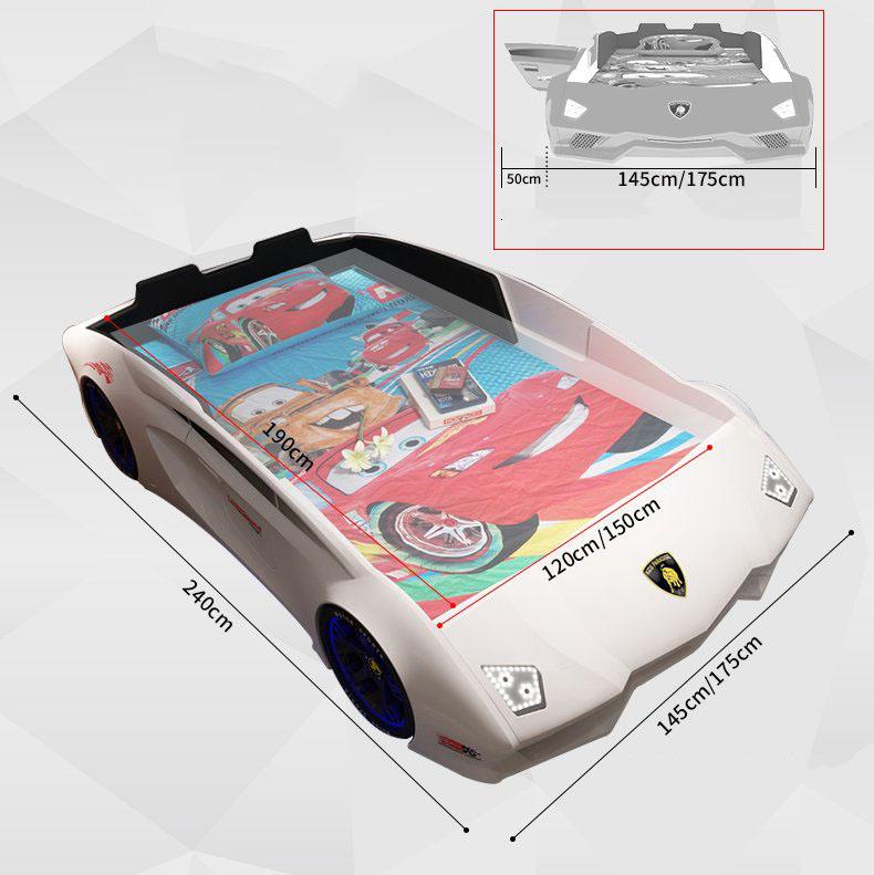 Kích thước giường thể thao GTE066 màu trắng