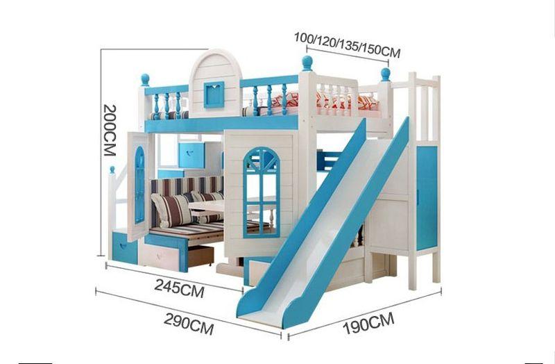 Giường trẻ em thông minh kiểu ngôi nhà GTE059 3