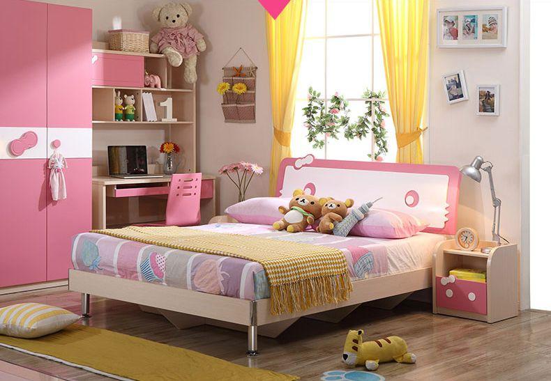 Giường công chúa hello kitty phong cách châu âu GTE024
