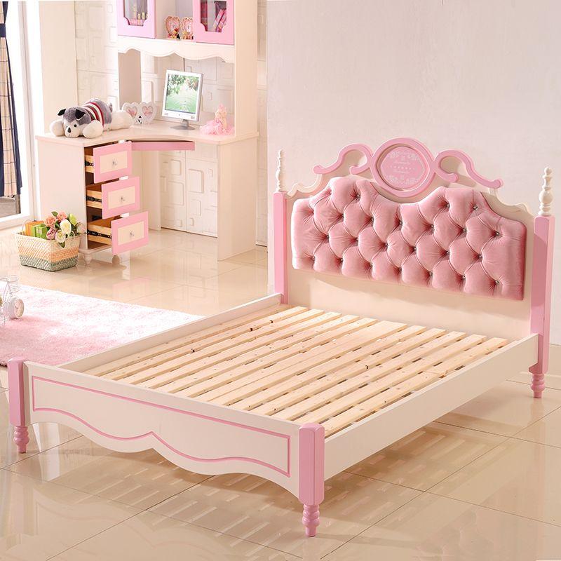 Giường công chúa màu hồng dễ thương cho bé gái GTE025 1