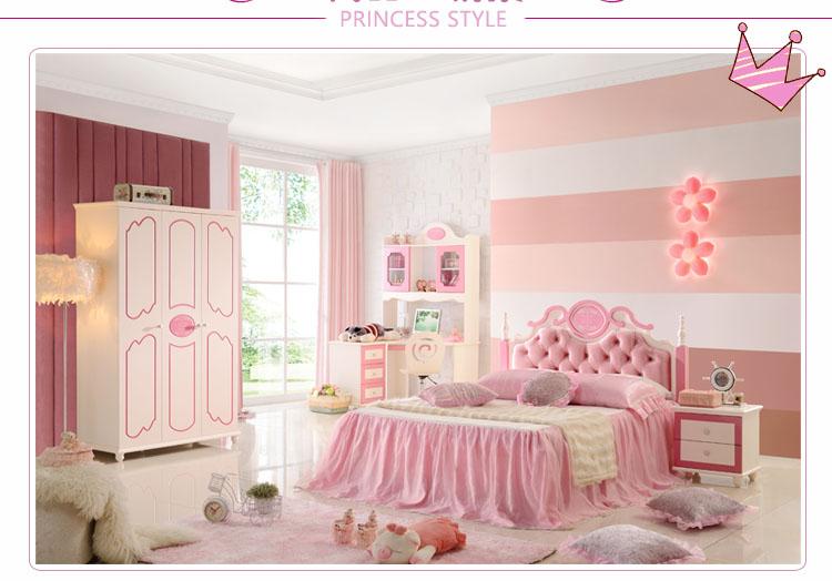 Trọn bộ nội thất công chúa màu hồng dễ thương cho bé gái GTE025