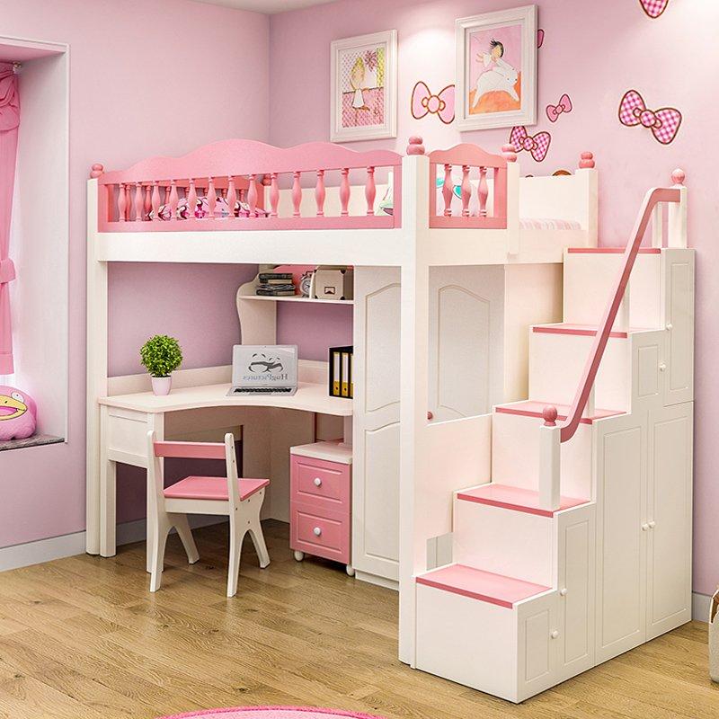 Giường đa năng cho bé có bàn học + tủ quần áo GTE072 1