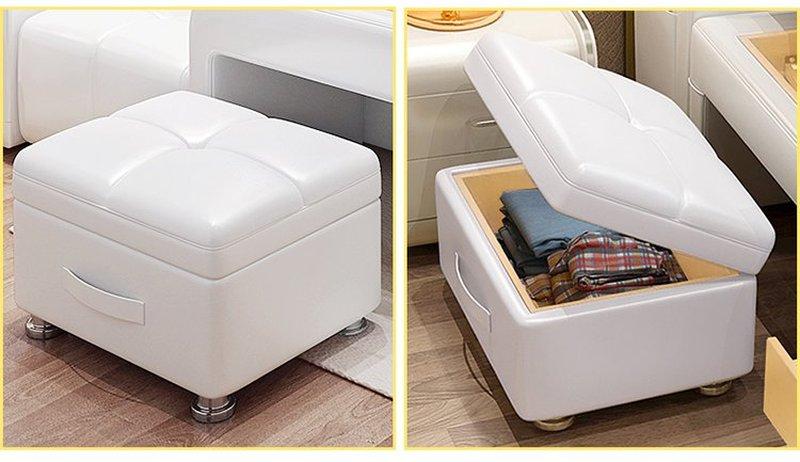 Giường hiện đại có bàn ghế uống nước GN009 6