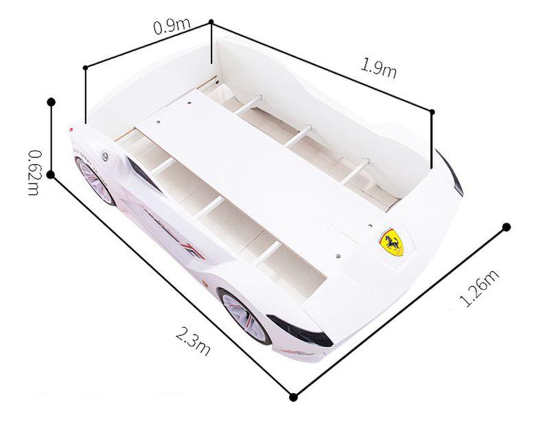 Kích cỡ giường ô tô nhập khẩu GTE082 màu trắng