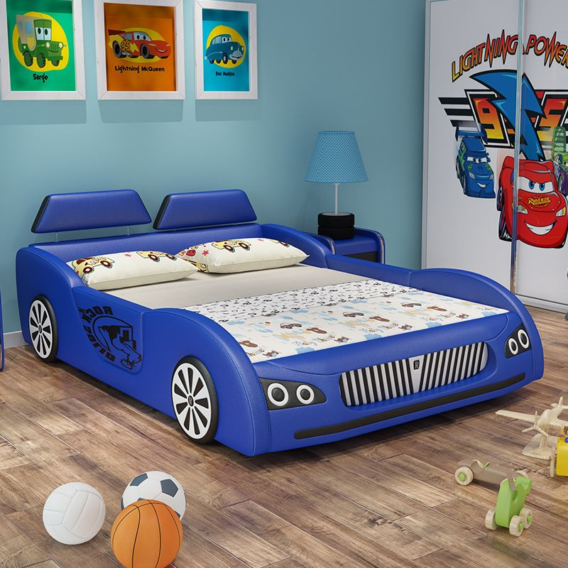 Giường trẻ em ô tô thể thao có ngăn gấp chứa đồ GTE036 màu xanh da trời