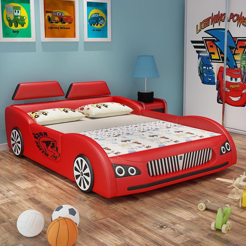 Giường trẻ em ô tô thể thao có ngăn gấp chứa đồ GTE036 màu đỏ